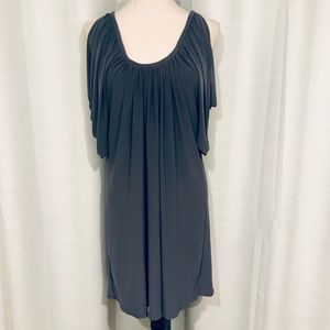 Boston proper gray cold shoulder dress size M